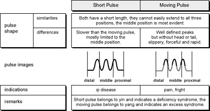 Comparison of Short and Moving Pulses