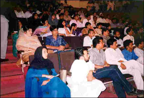 Acupuncturists from across Pakistan took part in the lectures.